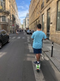 ari on lime scooter